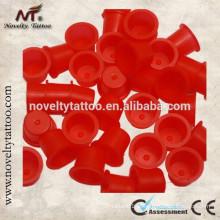 N201015B-R Novo plástico vermelho tatuagem tinta copos / tampas de tinta