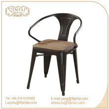 armest dining chairs with wooden seat / Marais metal dining armchair / Powder Coated Marai Cafe chair