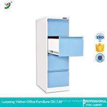Armário de arquivo de aço da gaveta do lateral 4 da mobília de escritório de Luoyang com preço de fábrica