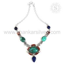 Collier de bijoux en pierres précieuses Multiples Bijoux en argent indien