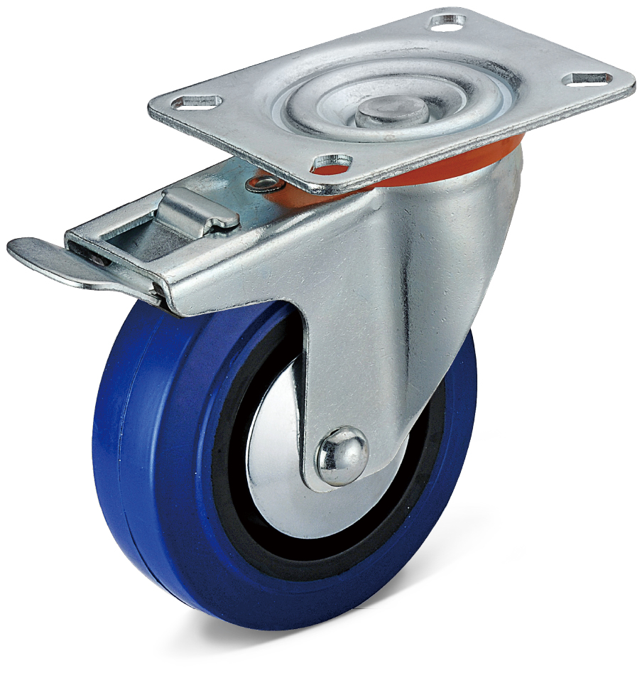 Flat Bottom Integral Double Brake Casters