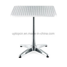 Durable Square Outdoor Metal Restaurant Table with Aluminum Leg (SP-AT362)