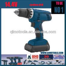 Herramientas eléctricas profesionales QIMO QM1008 14.4V Taladro inalámbrico simple / doble velocidad