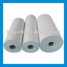 Traverser le tissu industriel de pulpe de bois de pulpe de poil de polyester visqueux croisé / parallèle