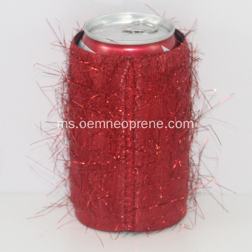 Red Novelty Custom Neoprene Beer Stubby Can Holders