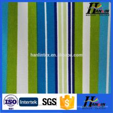 100% Baumwolle bedruckt gestreiftes Segeltuchgewebe für Beutelschuh-Sofavorhang