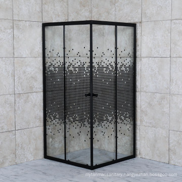 Cheap Price Shower Room Tempered Glass Shower Box Corner Square Shower Enclosure with Chrome Aluminum