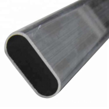 Disesuaikan Anodizing Extruded Aluminium Oval Tube Pipe