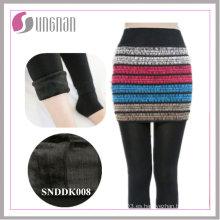 Culottes falsos de dos piezas de la moda de invierno de 2015 añadidos polainas del pie del paño grueso y suave
