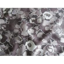 Tecido de poliéster impresso Spandex Chiffon para vestuário (XSFS-002)