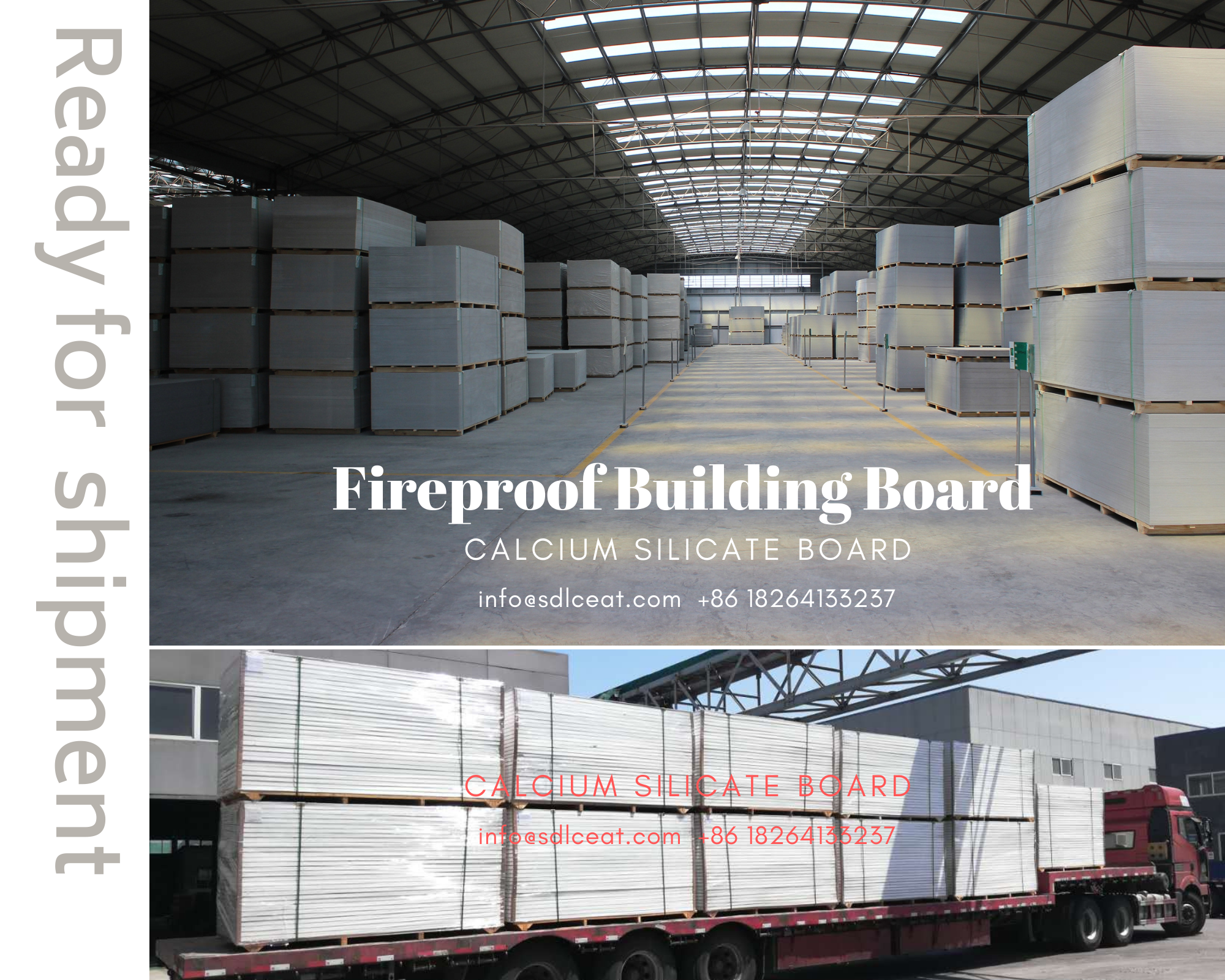 packing and shipment calcium silicate board