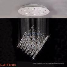 Moderno panel solar de cromo colgante araña colgante iluminación luz 92026