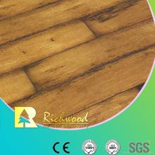 12.3mm Woodgrain Texture Maple V-Grooved Waxed Edged Laminated Flooring
