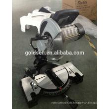 255mm Long Life Elektrische Leistung Aluminium Holz Schneidemaschine Werkzeuge Induktionsmotor Compound Gehrungssäge