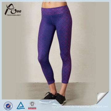 Glänzende sexy kundenspezifische bunte hohe Qualität tragende Yoga-Hosen