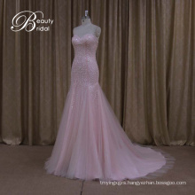 Promotion Tank Top Strapless Wedding Dress Organza Ruffles Skirt