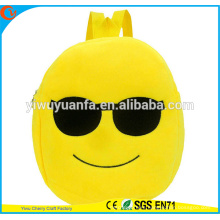 Charming Style Fashionable Smile Plush Face Emoji School Bag Backpack For Kids