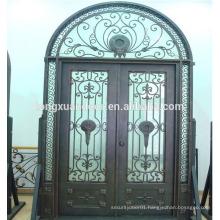 Exterior doors security iron grill doors wrought iron door
