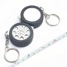 Ruban à mesurer en acier mini porte-clés