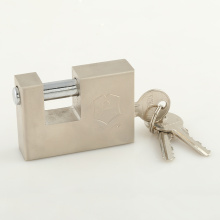Factory Supply Nickle Plated 3 S Type Key Rectangular Padlock