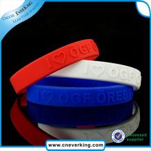 Qualitäts-kundenspezifisches umweltfreundliches Armband-Silikon