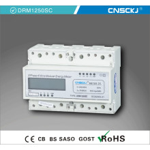Mètre triphasé de watt-heure triphasé Compteur triphasé de compteur d'énergie de chiffres de la phase 380V 20 (100) a