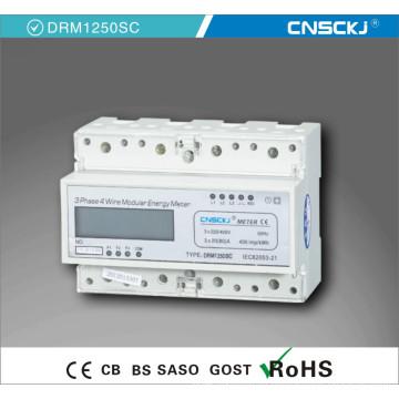 Трехфазный счетчик ватт-часов Трехфазные цифры Электронный счетчик энергии 380В Трехфазный измеритель на DIN-рейке