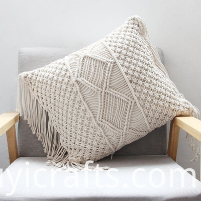 macrame outdoor pillows