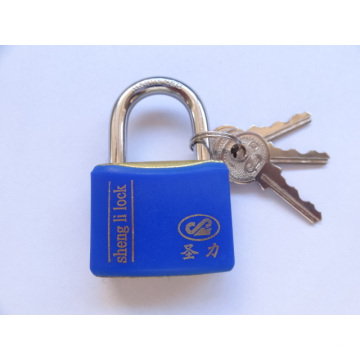 New Style Imitate Brass Padlock with Plastic Waterproof Cover
