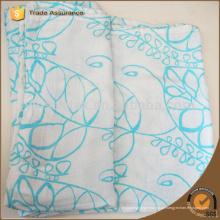 Große grüne Blätter Muster Baby Bambus Faser Musselin Decke Swaddle Wrap 120 * 120cm Unisex Baby Swaddle