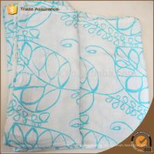 Big green leafs pattern baby bamboo fiber muslin blanket swaddle wrap 120*120cm unisex baby swaddle
