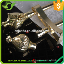 wholesale golden curtain rods with 25mm curtain pipe