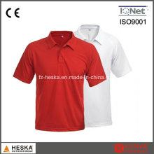 OEM curto manga Mens algodão em branco camisa de Polo