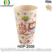 Cute Design Eco-Friendly Bamboo Fiber Cup (HDP-2000)