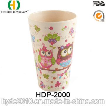 Cute Design Eco-Friendly Bamboo Fiber Cup (HDP-2000)