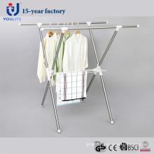 Cintre de séchage des vêtements extensibles en acier inoxydable