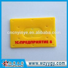 8.7 * 5. 5 cm moule en plastique porte-carte avec logo imprimé