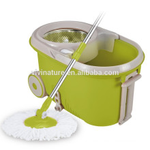 Stainless Steel Deluxe Rolling Spin Mop