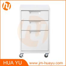 Gabinete de almacenamiento movible 3 de los cajones del metal revestido del polvo de los muebles para la sala de estar