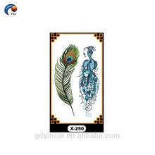 Pegatinas de alas de ángel personalizado, tatuaje temporal con bajo precio