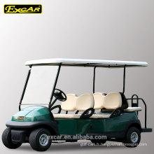 4 places avant plus 2 places arrières pas cher chariot de golf électrique 48V