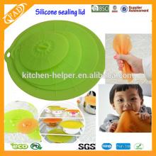 Um jogo de 4 tampas do silicone das tampas / roubando a tampa do hueco para ferramentas da cozinha