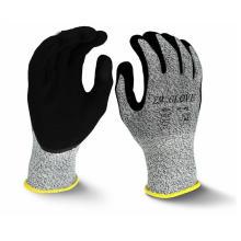 13 Gauge HPPE Liner Cut Resistant Gloves Sandy Nitrile Coated Glove Level 5