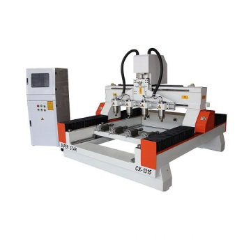 3d cnc wood carving machine with 4 spindle