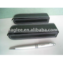 gift pen set PU leather case with metal pen