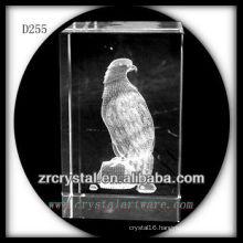 K9 3D Laser Etched Parrot Inside Crystal Block