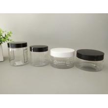 Siebdruck Kosmetischer Plastikbehälter mit schwarzer Abdeckung