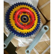 Accesorios para bicicletas de rueda de cadena y manivela