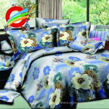 100% poliéster dispersa impresión tamaño doble 125gsm tela para juego de cama