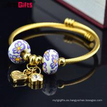 Pulsera de la joyería del encanto, brazalete del brazalete del encanto de encargo europeo